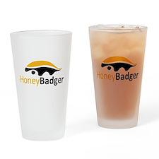 Honey Badger Logo Drinking Glass