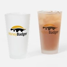 Honey Badger Logo Drinking Glass
