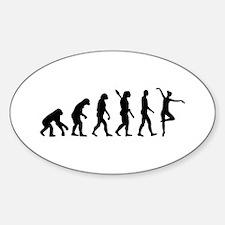 Ballet Ballerina evolution Sticker (Oval)