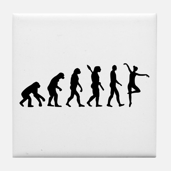 Ballet Ballerina evolution Tile Coaster