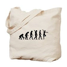 Ballet Ballerina evolution Tote Bag