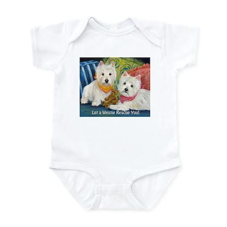 WESTIE LET A WESTIE RESCUE YOU! Infant Bodysuit