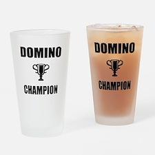 domino champ Drinking Glass