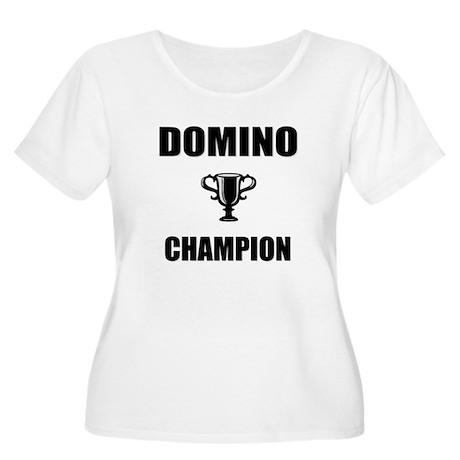 domino champ Women's Plus Size Scoop Neck T-Shirt