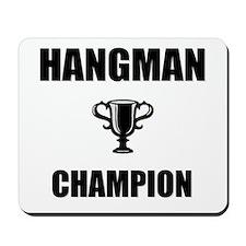 hangman champ Mousepad