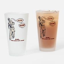 Zombie Bacon Drinking Glass