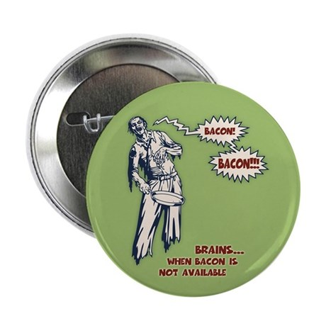 "Zombie Bacon 2.25"" Button (100 pack)"