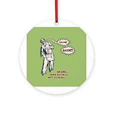 Zombie Bacon Ornament (Round)
