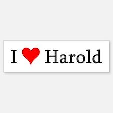 I Love Harold Bumper Car Car Sticker