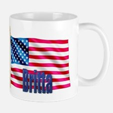 Britta Personalized USA Flag Mug