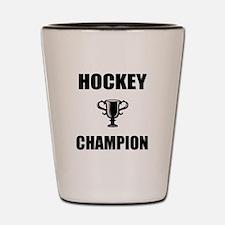 hockey champ Shot Glass