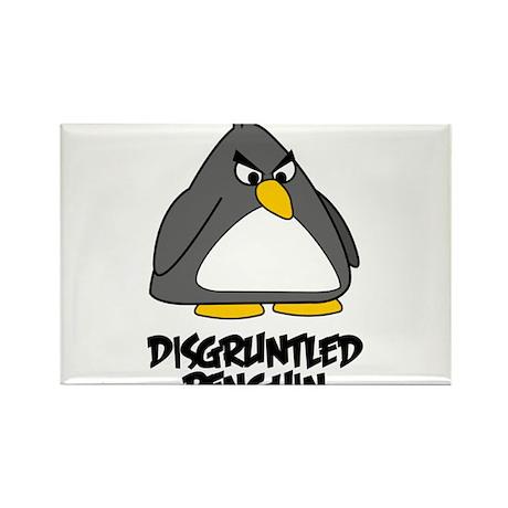 Disgruntled Penguin Rectangle Magnet
