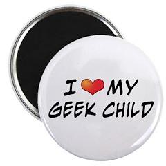 "Love Geek Child 2.25"" Magnet (100 pack)"
