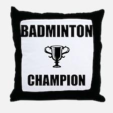 badminton champ Throw Pillow