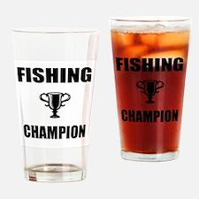 fishing champ Drinking Glass