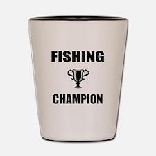 fishing champ Shot Glass