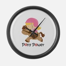 Pony Power Blond Large Wall Clock