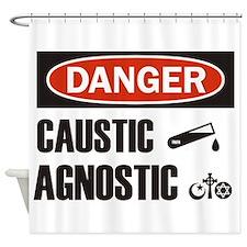 Danger Caustic Agnostic Shower Curtain