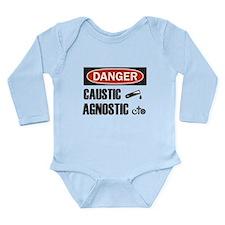 Danger Caustic Agnostic Long Sleeve Infant Bodysui