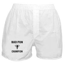 bad pun champ Boxer Shorts