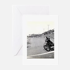 Motorcycle Race # 10 Greeting Cards (Pk of 20)