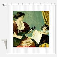 Antique Music Lesson Shower Curtain