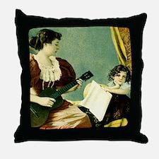 Antique Music Lesson Throw Pillow