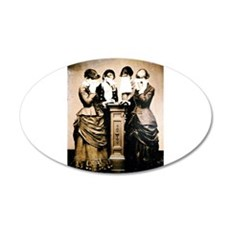 Four Women Crying Wall Decal