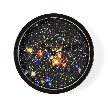 Distant Luminous Stars Wall Clock