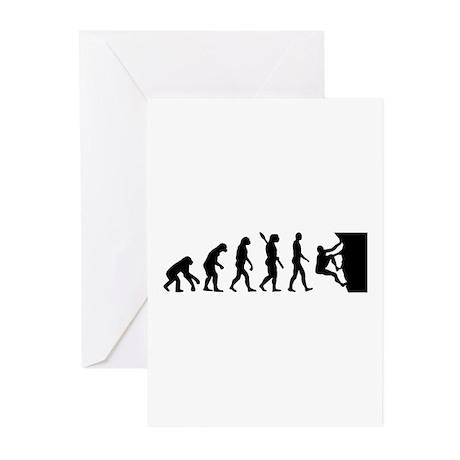 Evolution climbing Greeting Cards (Pk of 10)