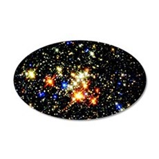 Distant Luminous Stars 35x21 Oval Wall Decal
