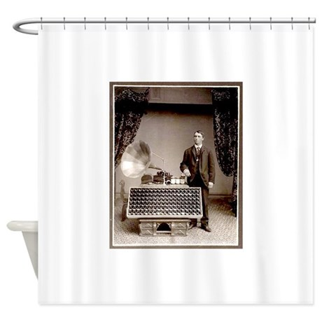 The Phonograph Shower Curtain