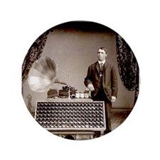 """The Phonograph 3.5"""" Button (100 pack)"""