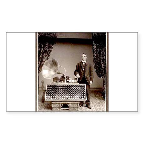 The Phonograph Sticker (Rectangle 50 pk)