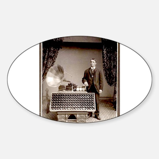 The Phonograph Sticker (Oval)