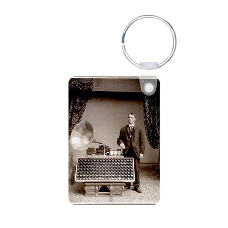 The Phonograph Aluminum Photo Keychain