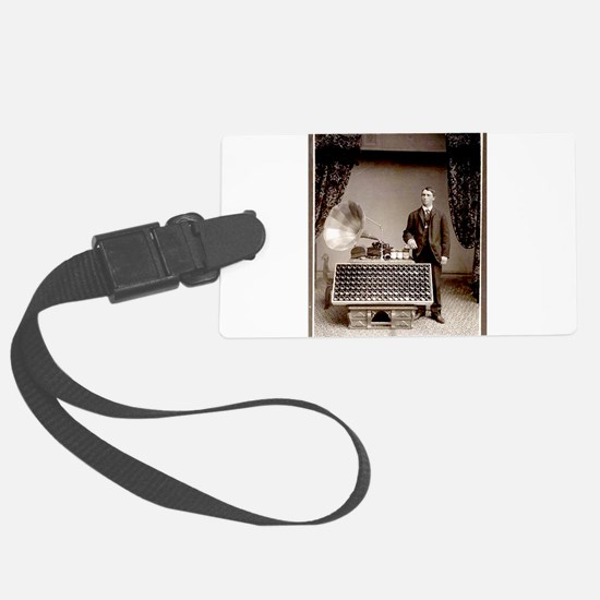 The Phonograph Luggage Tag