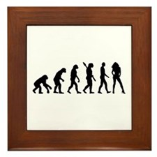Evolution sexy woman Framed Tile