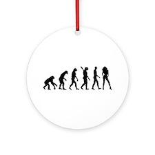 Evolution sexy woman Ornament (Round)