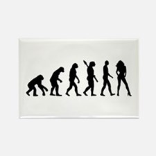Evolution sexy woman Rectangle Magnet