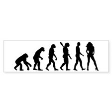 Evolution sexy woman Bumper Sticker