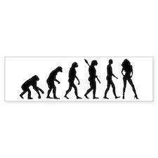 Evolution sexy woman Car Sticker