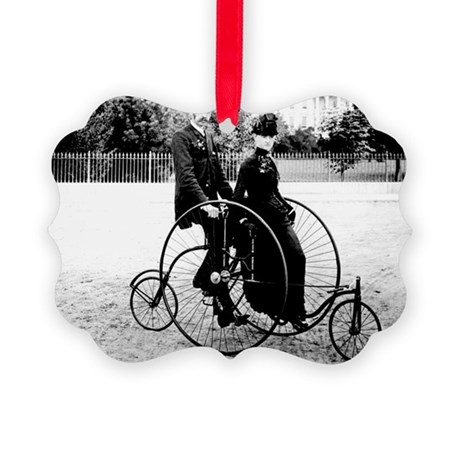 Bicycle Built For Two Picture Ornament
