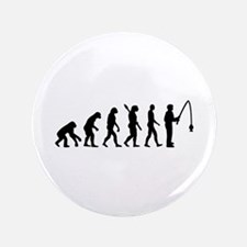 "Evolution fishing man 3.5"" Button (100 pack)"