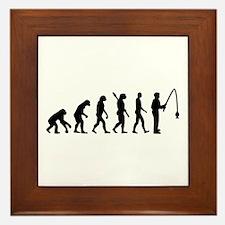 Evolution fishing man Framed Tile
