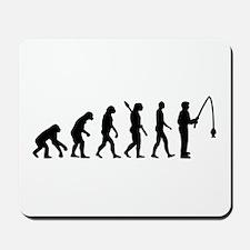 Evolution fishing man Mousepad