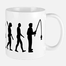 Evolution fishing man Mug