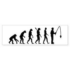 Evolution fishing man Bumper Sticker