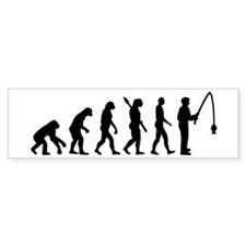 Evolution fishing man Bumper Sticker
