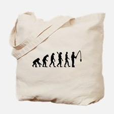 Evolution fishing man Tote Bag